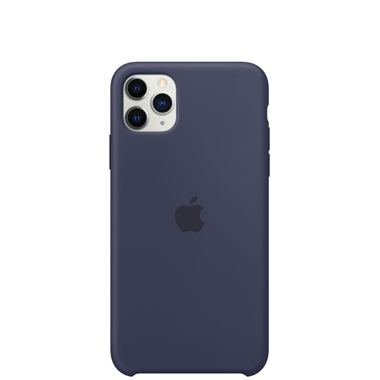 Picture of iPhone 11 Pro Max Silicone Case Mid Blue